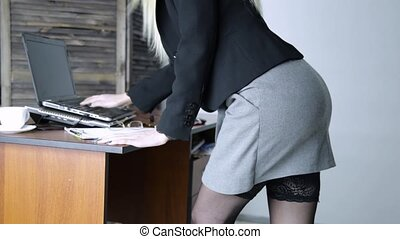 sexy secretary is sexually assaulted in the workplace. man...