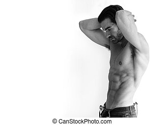 sexy, shirtless, hombre