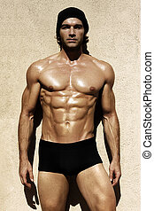 sexy, shirtless, macho, modelo