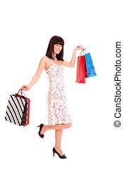 sexy, shopping donna