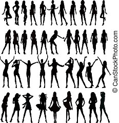 sexy, silhouettes