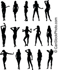 Sexy Silouettes - Illustration of sexy woman silhouettes