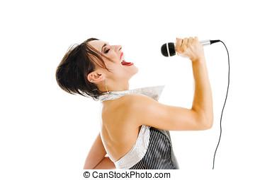 Sexy singer woman
