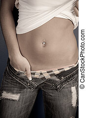 Sexy Stomach - young women with sexy stomach