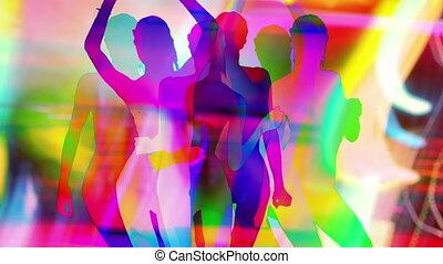 sexy, sylwetka, tancerz, cień