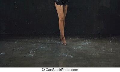sexy, tanz, regen