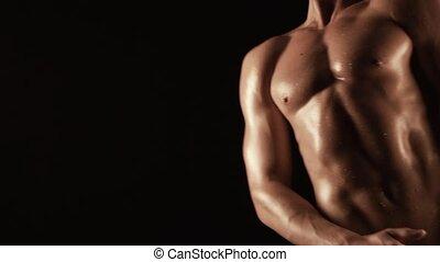 Sexy torso of young man