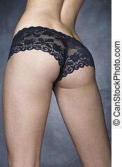 sexy underwear, dziewczyny, grzbiet