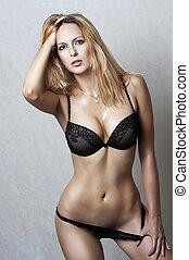 sexy underwear, fason modelują, portret