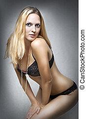 sexy underwear, samica, model.