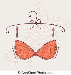 Sexy vintage bra