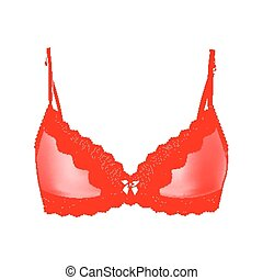 Sexy vintage red bra