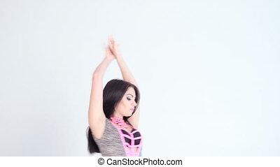 sexy, vrouw dansen