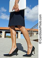 sexy, vrouw zaak, benen