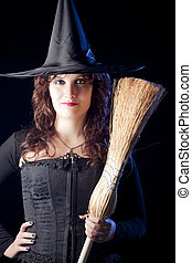 Sexy Witch with Broom