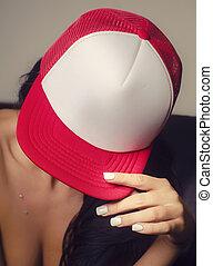 Sexy woman baseball hat