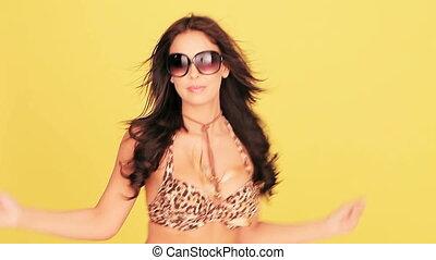 Sexy woman dancing