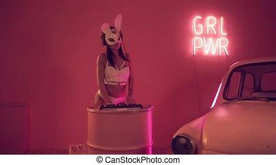 Sexy woman DJ