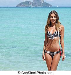 Sexy woman on beach