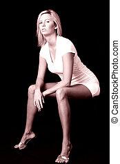 sexy woman sitting