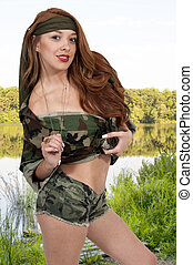 Sexy Woman Soldier