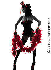 sexy woman stripper showgirl silhouette - one sexy woman ...