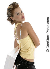 sexy woman with shopping bag