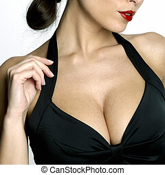 Sexy woman\'s neckline
