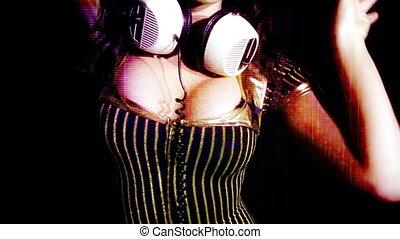 sexy women dance at a club, soft focus filter
