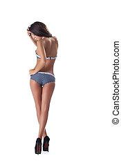 sexy young girl posing in pretty bikini