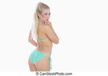 Sexy young woman in bikini