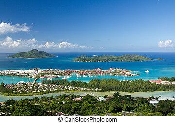 seychelles, éden, ilha