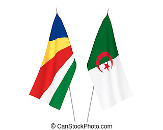 Seychelles and Algeria flags - National fabric flags of ...