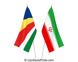 Seychelles and Iran flags - National fabric flags of ...