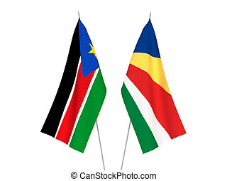 Seychelles and Republic of South Sudan flags - National ...
