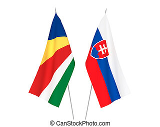 Seychelles and Slovakia flags - National fabric flags of ...