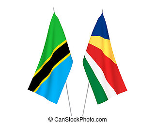 Seychelles and Tanzania flags - National fabric flags of ...