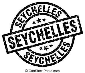 Seychelles black round grunge stamp