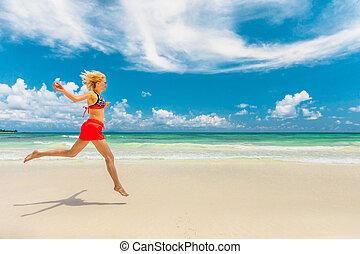 Seychelles carefree woman