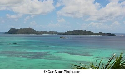 Seychelles Cote d'Or Bay - Panorama of Cote d'Or Bay of...