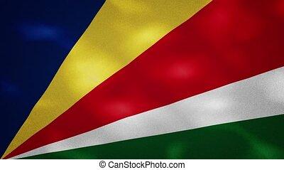 Seychelles dense flag fabric wavers, background loop - ...
