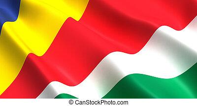 Seychelles flag 3d