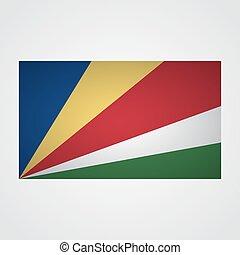 Seychelles flag on a gray background. Vector illustration