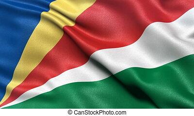 Seychelles flag seamless loop