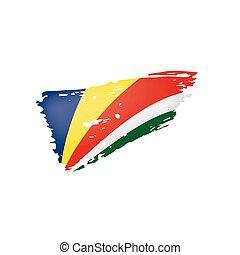 Seychelles flag, vector illustration on a white background.