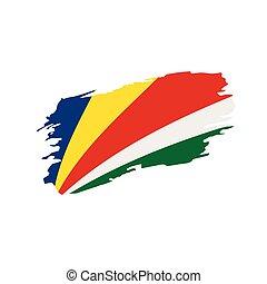 Seychelles flag, vector illustration on a white background