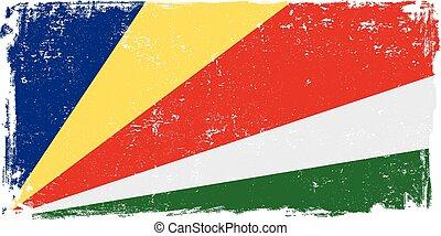 seychelles flag vector.eps - Seychelles vector grunge flag...