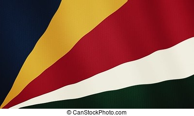Seychelles flag waving animation. Full Screen. Symbol of the country.