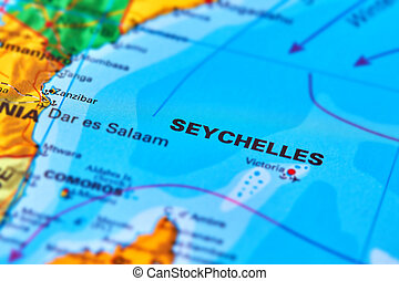 Seychelles Islands on the Map