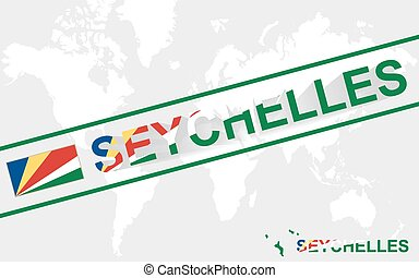 Seychelles map flag and text illustration